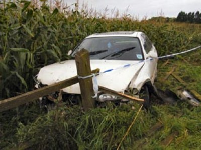 Crashed car