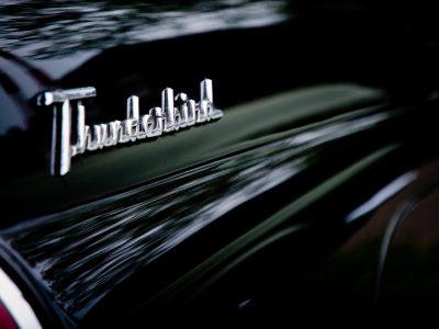 Thunderbird logo on car