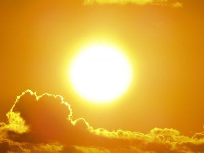 Sun dominates the sky