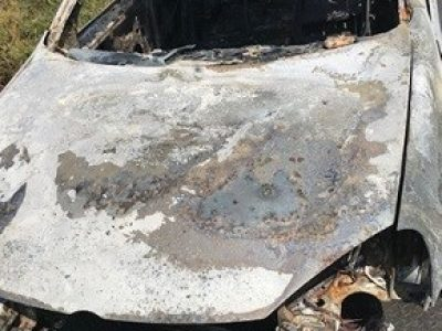 Burnt out car